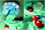 Торта Двойка - пандишпанени блатове с шоколадово-сметанов крем и ягоди