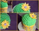"Торта ""Кактус"" - бисквитена торта (тип сладък салам), декорация фондан и крем от маскарпоне."