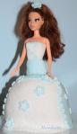 "Торта ""Принцеса"" - бисквитен блат (тип сладък салам, фондан за декорация."