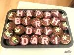 Шоколадови мъфини с украса от шоколадов крем