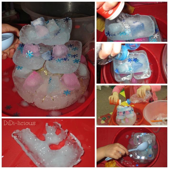 разтопяване леден замък
